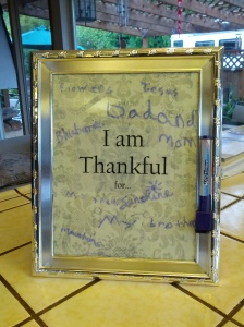 Our Thankful Board