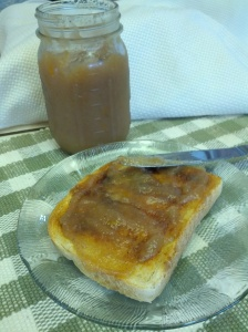 Pear butter on toast