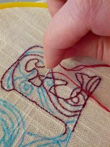 E embroidery