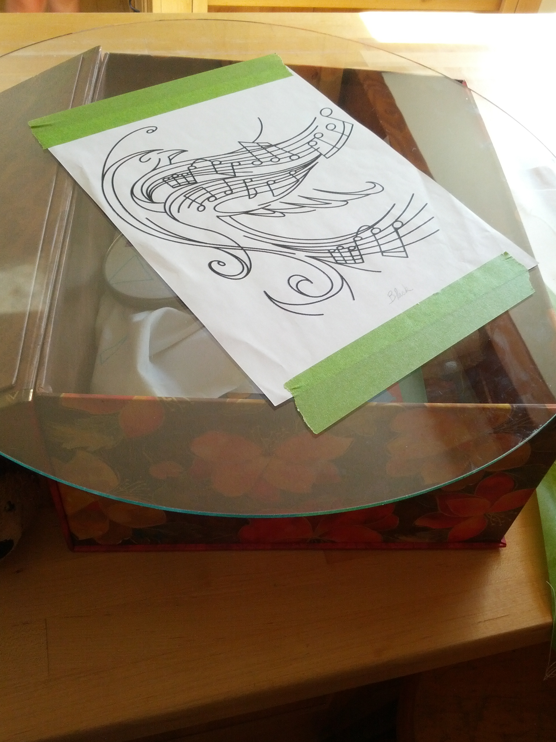Diy Light Table Transferring Designs Frabjus Lady And The Screwy