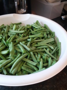 Beans ready to blanch