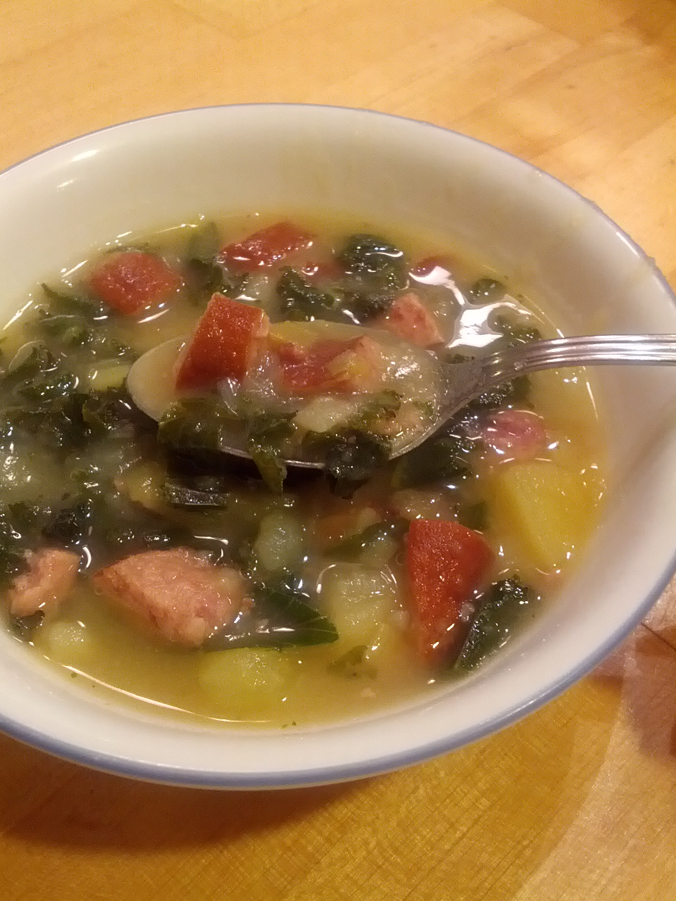 Rustic Potato and Kale Soup