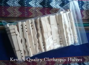 Kevin's Quality Clothespin Halves Package of 50